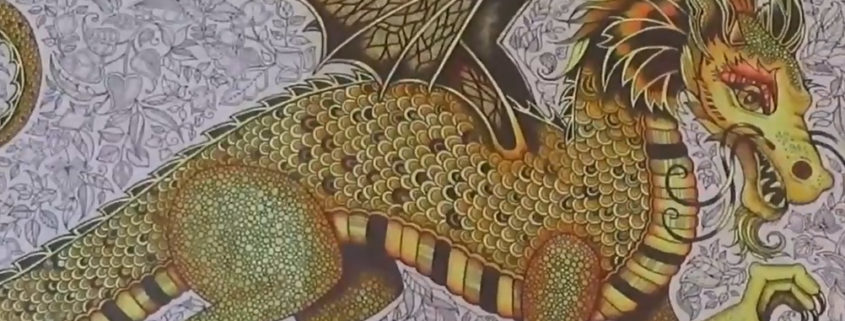 Felnőtt színező - így színezd a sárkányod
