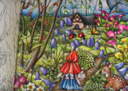Felnőtt színező - kert mindörökké