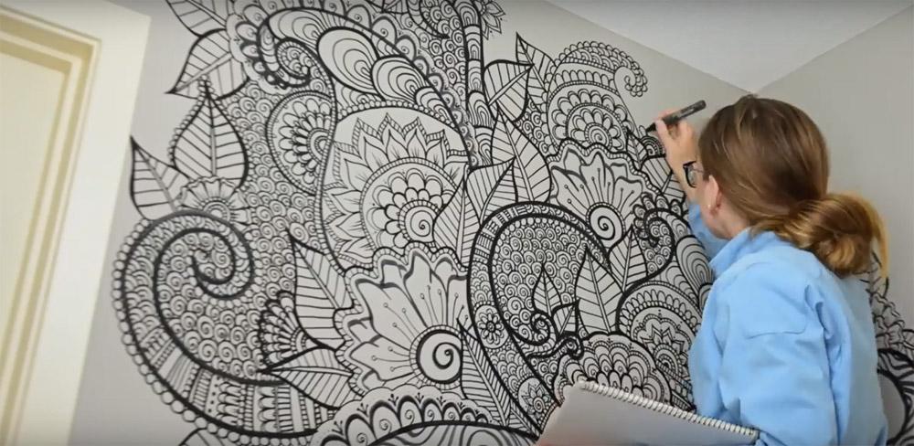 ZENtangle minták a falon?