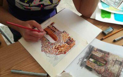 Akvarell és útinaplózás először Százhalombattán