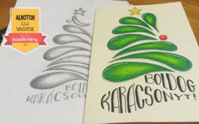 4. Kihívás – Karácsonyi képeslapot készítek