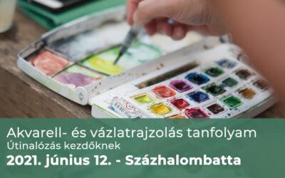 Jelentkezés akvarell- és vázlatrajzolás (útinaplózás) tanfolyamra – Százhalombatta 2021.06.12.